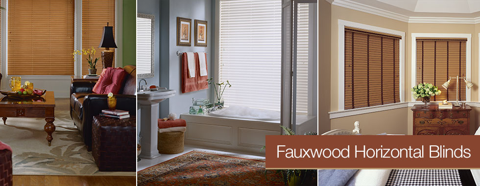 Faux Horizontal Blinds from Arjay's Window Fashions