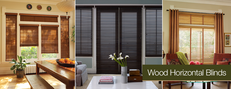 Natural Wood Horizontal Blinds from Arjay's Window Fashions