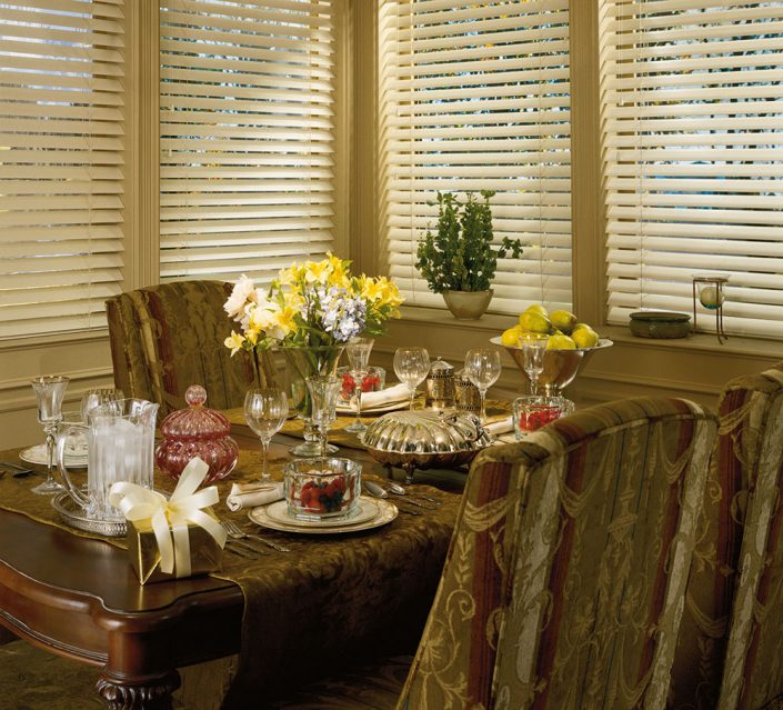 Faux Blinds for Family Room