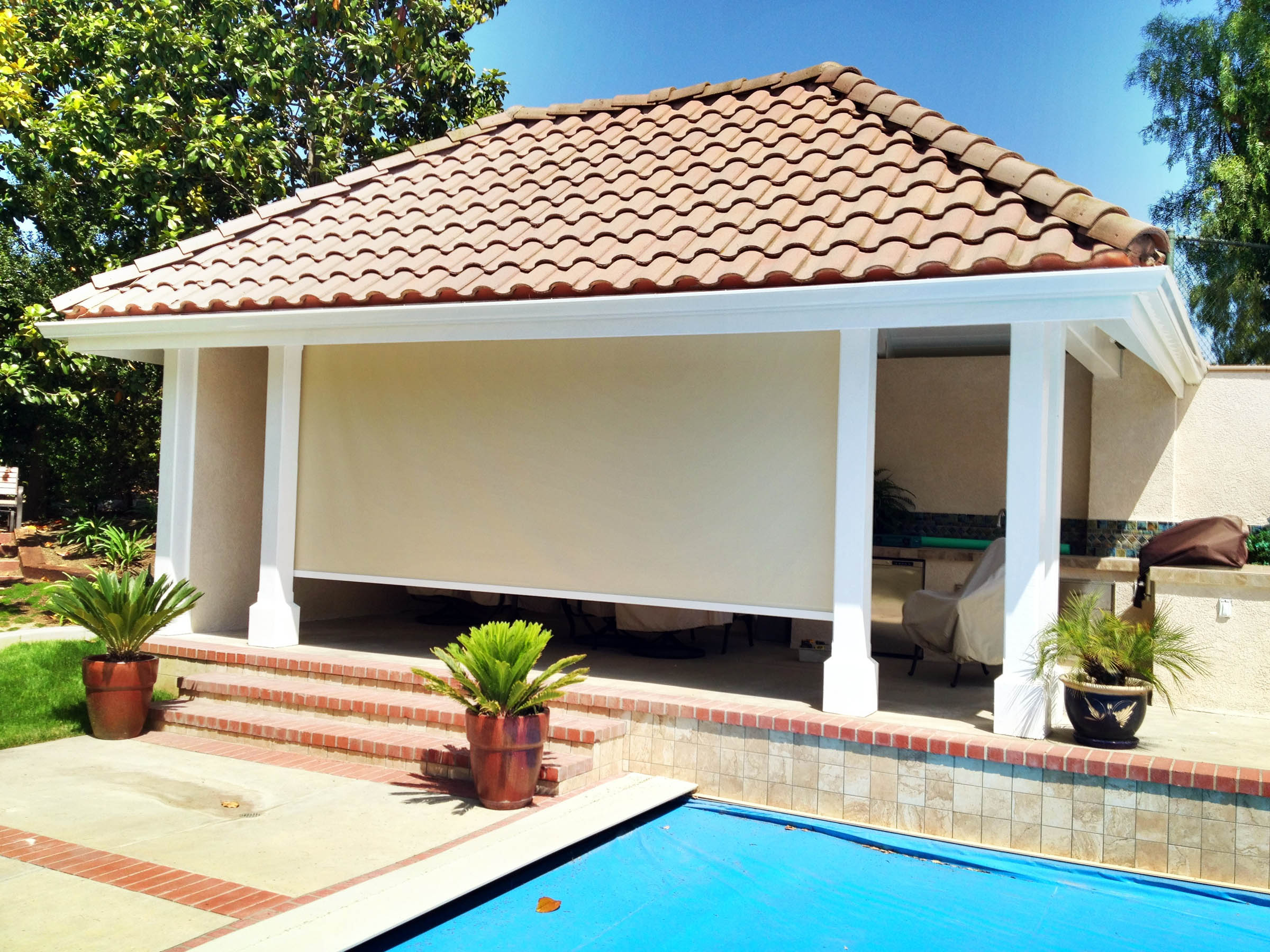 Parker Exterior Shade   Shade Down Patio Shade Makes Your Outdoor ...